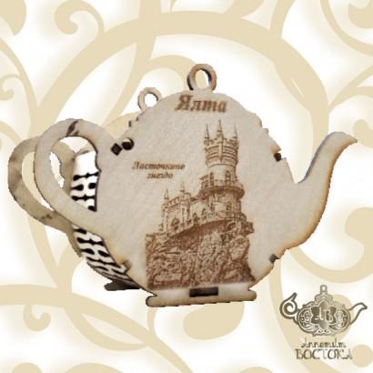 Чай Сувенирный Чайник (дерево) Ласточкино Гнездо, Крымское утро, 70 гр.