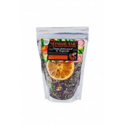 Чай черный с травами и фруктами Заряд витаминов&Бодрость, 50г