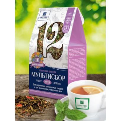 Травяной мультисбор №12 Для укрепления кровеносных сосудов и при варикозном расширении вен, 80 г