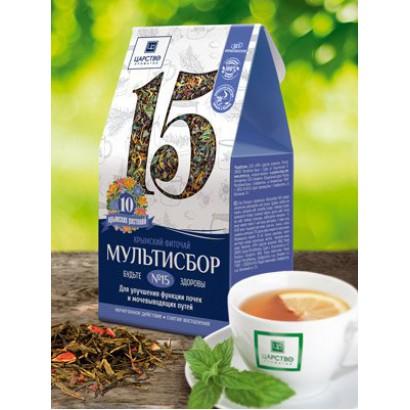 Травяной мультисбор №15  Для улучшения функции почек и мочевыводящих путей, 80 г