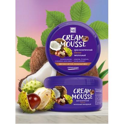 Крем косметический Cream Mousse для ухода за кожей ног тонизирующий питательный, 220г.