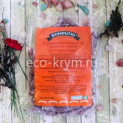Цукаты из моркови в сахарной пудре, 300 г