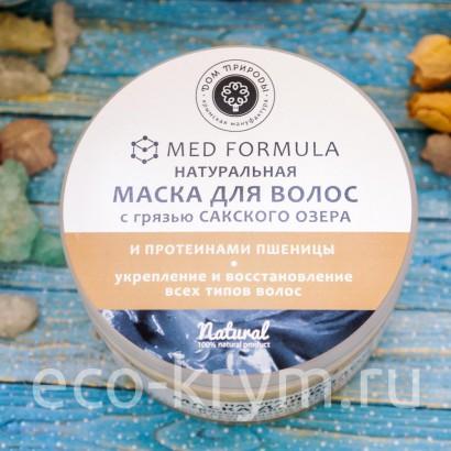 Маска для волос с протеинами пшеницы и грязью Сакского озера - укрепление и восстановление, 250г