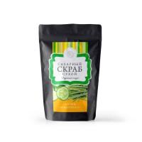 Скраб сахарный сухой для тела «ОГУРЕЧНЫЙ СМУЗИ», 250г