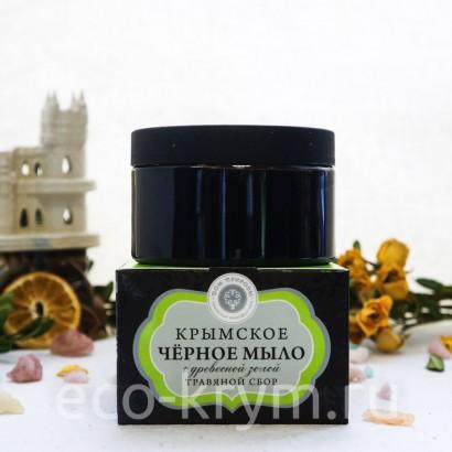 Мыло крымское Черное «Травяной сбор», 270 г