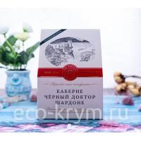 Набор подарочный ВИННОЕ АССОРТИ 2+1 (Кабарне, Черный доктор, Шардоне)