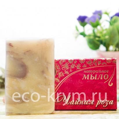 Мыло крымское натуральное «ЧАЙНАЯ РОЗА», 75 г КНК