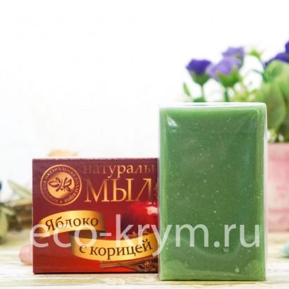 Мыло крымское натуральное «ЯБЛОКО С КОРИЦЕЙ», 75 г КНК