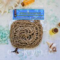 Мочалка вязаная с мылом «Сакская грязь», 100г
