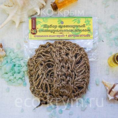 Мочалка вязаная с мылом «Ванильное», 85г