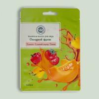 Маска тканевая для лица SUPERFOOD овощной фреш (тыква, сладкий перец, томат) 20г. КК