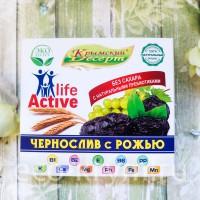 Крымский Десерт ЧЕРНОСЛИВ с РОЖЬЮ, 75 г.