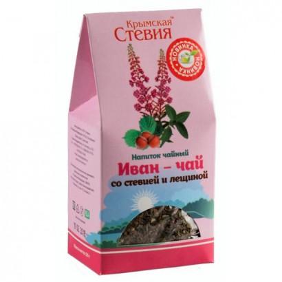 Фиточай Иван-чай со стевией и лещиной, 50гр