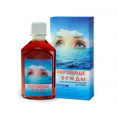 Бальзам безалкогольный СОКРОВИЩЕ ВЕЖДЫ, (зрение), 250мл