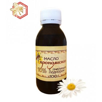 Масло Прополисное 10% с пчелиным подмором, 100мл