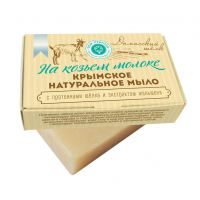 Мыло крымское мыло «ДАМАССКИЙ ШЁЛК» на козьем молоке, 100г