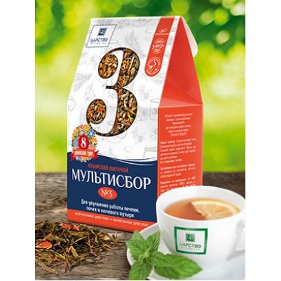 Травяной мультисбор №3 для улучшения работы печени, почек и мочевого пузыря, 80 г