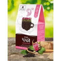 Чай черный с мятой и розой 150г